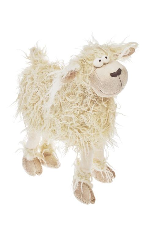 Игрушка мягкая Лама - смешная дамаИгрушки и куклы<br>38*35см, текстиль, крем.<br>