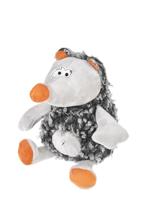 Игрушка мягкая Еж - всем хорошИгрушки и куклы<br>15*25см, текстиль, крем.-серо-оранж.<br>