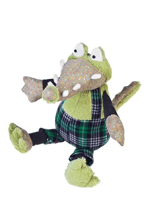 Игрушка мягкая Крокодил всех победилПлюшевые игрушки<br>15*35см, текстиль, зеленая<br>