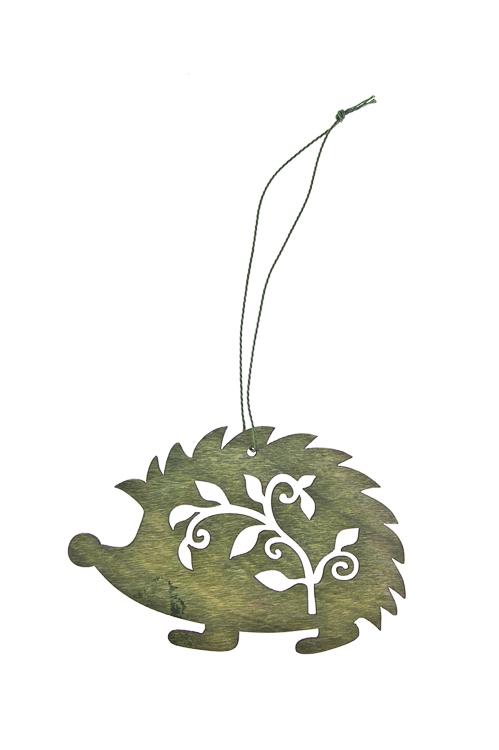 Украшение декоративное ЕжикПодарки<br>Дл=11см, дерево, подвесное (2 цвета)<br>