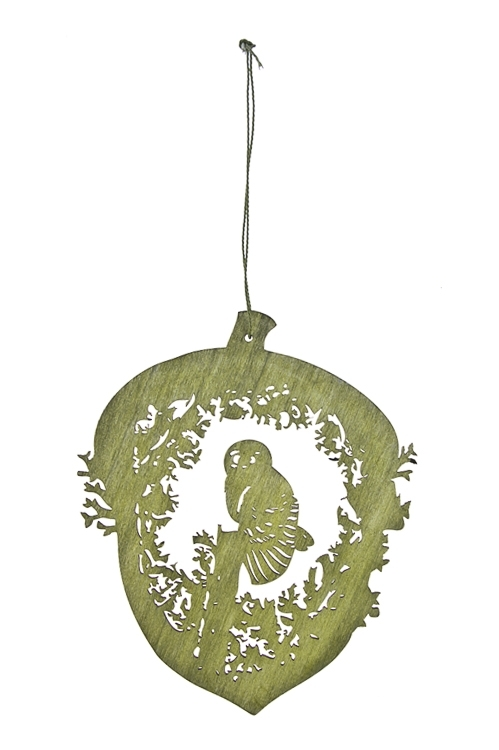 Украшение декоративное Загадочная соваЕлочные игрушки<br>Выс=15см, дерево, подвесное (2 цвета)<br>