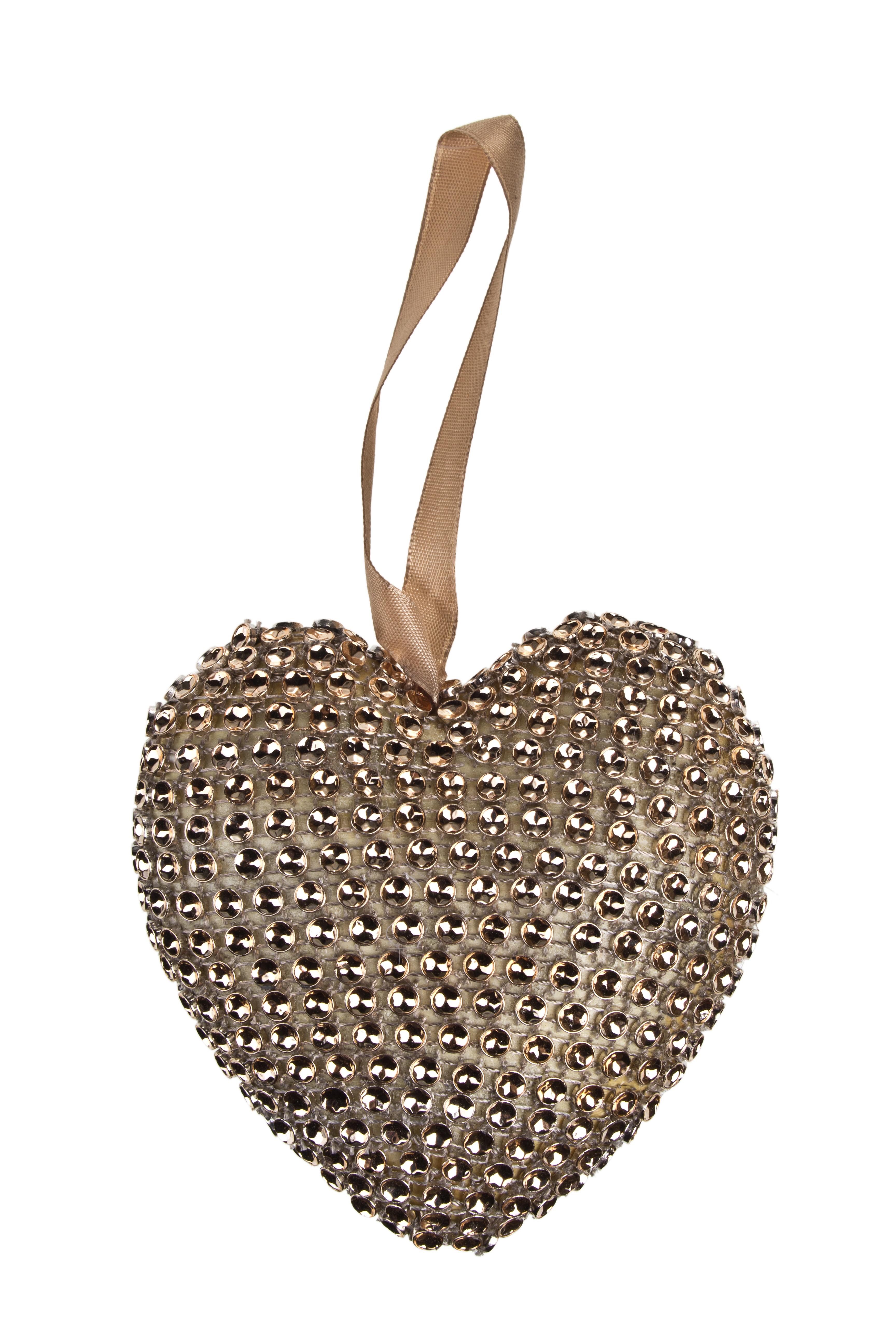 Украшение декоративное Блестящее сердце - 1