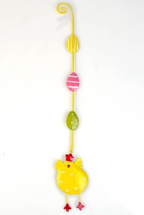 Сувенир ЦыпаСувениры и упаковка<br>Дл=30см металл ручная роспись подвесной (2 вида)<br>