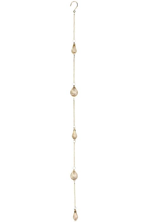 Украшение декоративное Золотая подвескаДекоративные гирлянды и подвески<br>Выс=103см, металл, стекло, золот., подвесное<br>