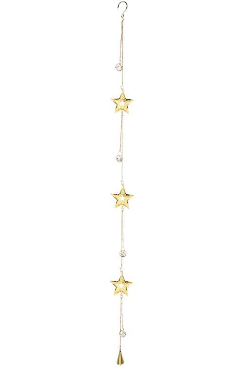 Украшение декоративное Мерцание звездСувениры и упаковка<br>Выс=130см, металл, пластм., золот., подвесное<br>