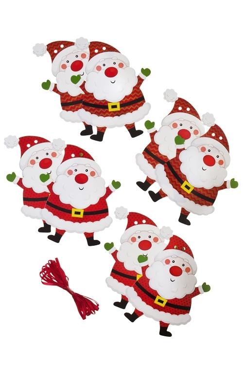 Гирлянда Дед МорозДекоративные гирлянды и подвески<br>120*14см, бумага, разноцв.<br>