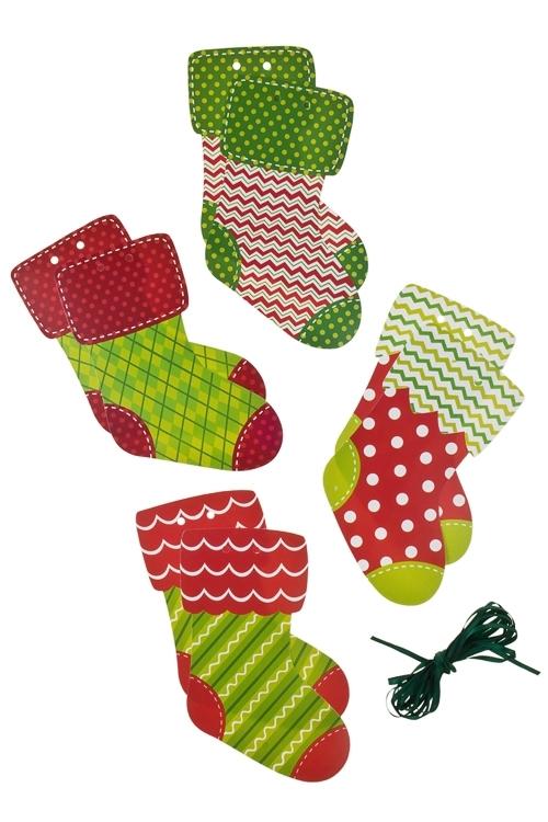 Гирлянда Рождественские носочкиДекоративные гирлянды и подвески<br>120*14см, бумага, разноцв.<br>