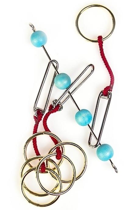 Сувенир-головоломка Загадка сердцаРазвлечения и вечеринки<br>20.5*3.7см 15.5*15см дерево металл (2 вида)<br>