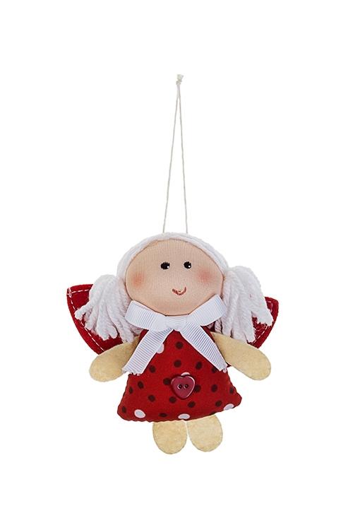 Кукла мягконабивная Яркий ангелокИгрушки и куклы<br>Выс=9см, текстиль, подвесная (3 вида)<br>