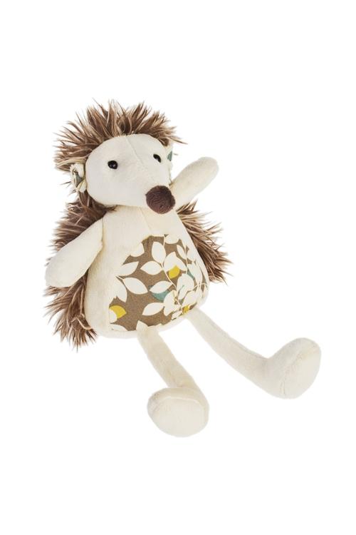 Игрушка мягконабивная ЕжикПлюшевые игрушки<br>Выс=14см, текстиль, крем.-коричн.<br>
