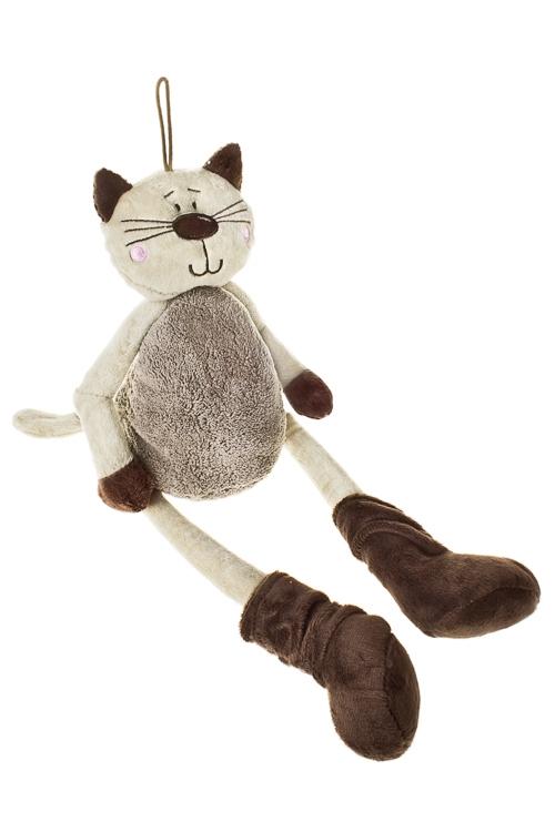 Игрушка мягконабивная КотикИгрушки и куклы<br>Дл=40см, текстиль, крем.-коричн.<br>