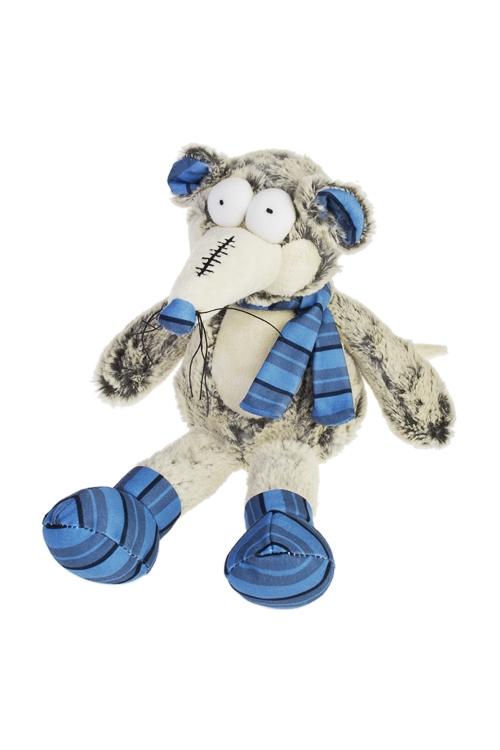 Игрушка мягконабивная КрыскаПлюшевые игрушки<br>Выс=17см, текстиль, серо-голуб.<br>