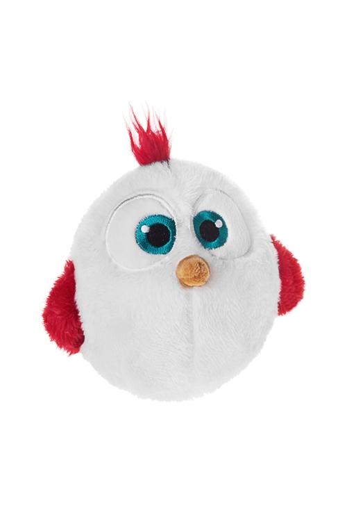 Игрушка мягконабивная ЦыпленокПлюшевые игрушки<br>Выс=12см, текстиль, бело-красная<br>