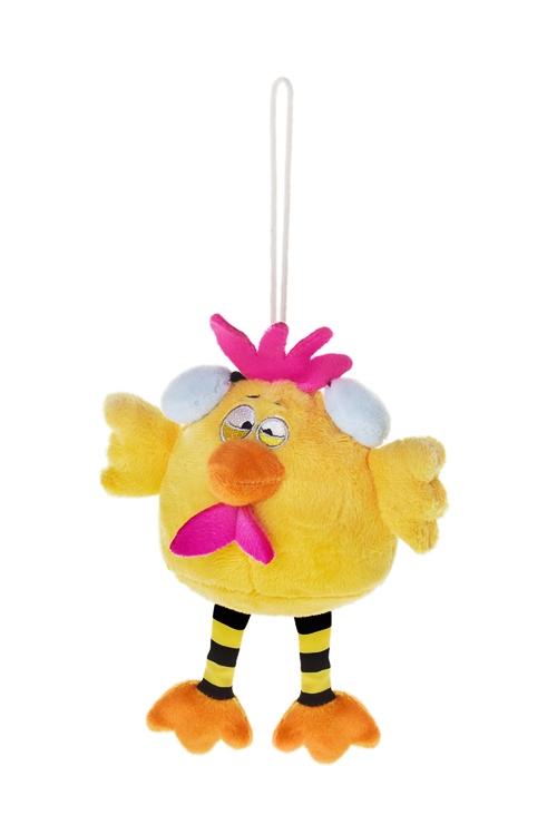Игрушка мягконабивная Яркий цыпаПлюшевые игрушки<br>Выс=15см, текстиль, желтая, подвесная<br>
