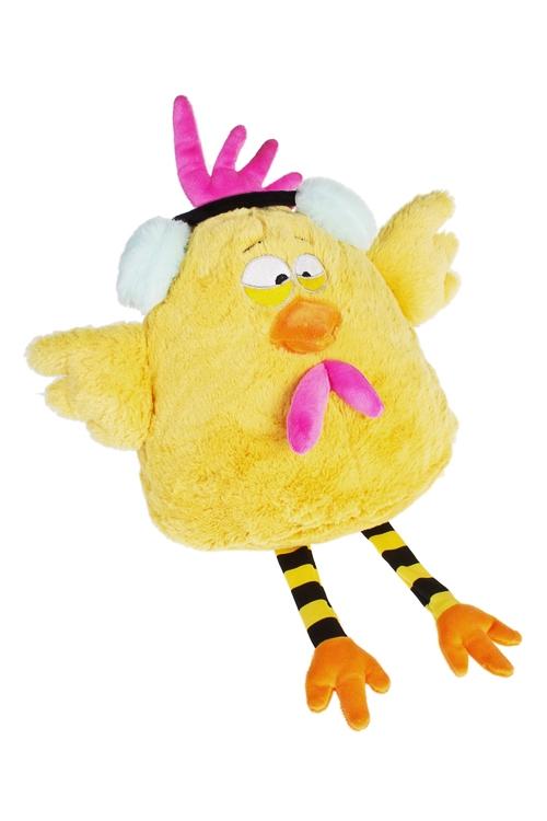 Игрушка мягконабивная Яркий цыпаПлюшевые игрушки<br>Выс=30см, текстиль, желтая<br>
