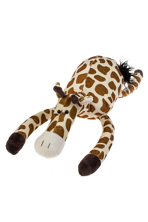 Игрушка мягконабивная ЖирафПлюшевые игрушки<br>Дл=28см, текстиль, крем.-коричн.<br>