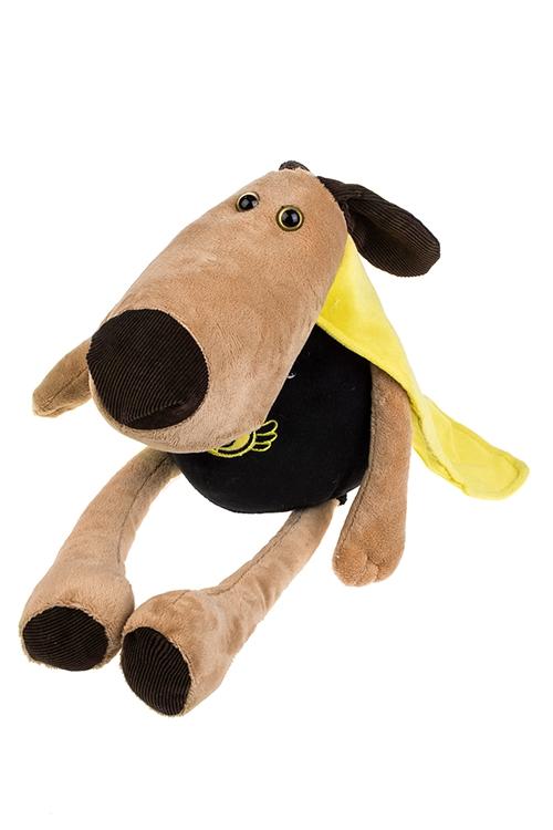 Игрушка мягконабивная МанидогПлюшевые игрушки<br>Дл=44см, текстиль, коричн.-черно-желтая<br>