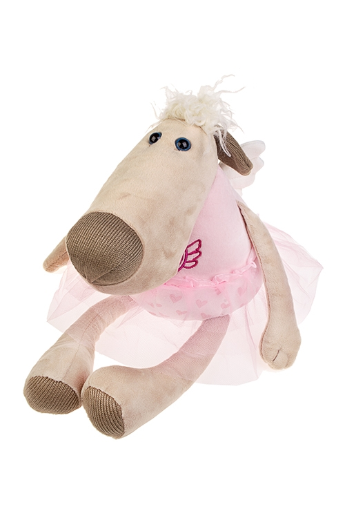 Игрушка мягконабивная ЛавлидогИгрушки и куклы<br>Дл=44см, текстиль, розово-кремовая<br>