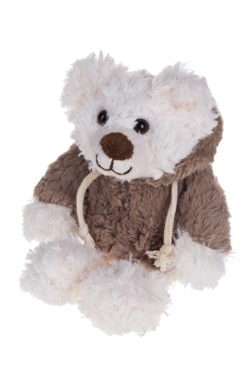 Игрушка мягкая Мишуля в комбинезонеИгрушки и куклы<br>Выс=25см, текстиль, серо-белая<br>