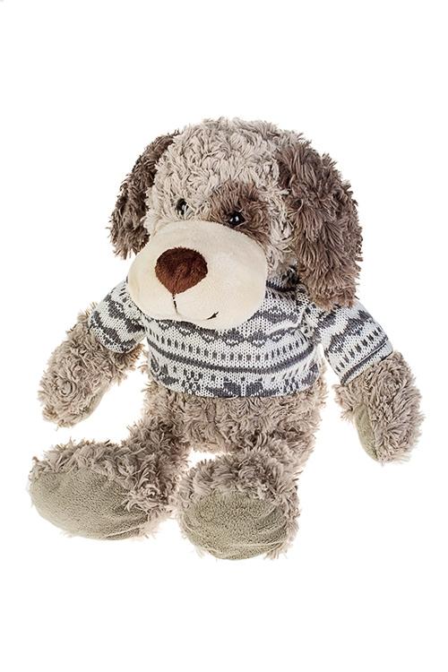 Игрушка мягкая Норвежская собачкаПодарки<br>Дл=40см, текстиль, беж.-коричн.-серая<br>