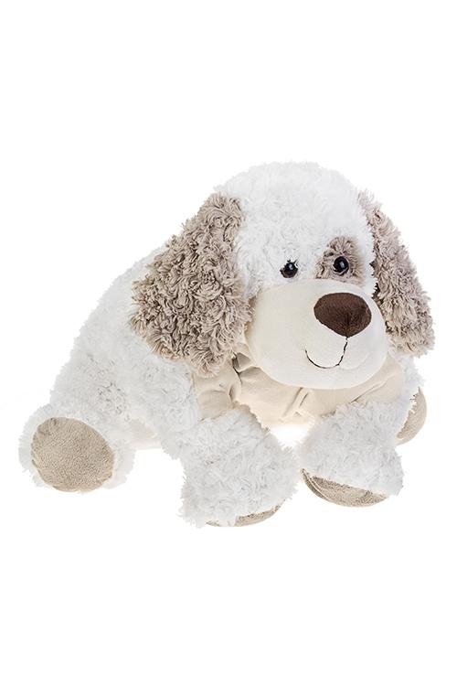Игрушка мягкая Собачка-подушкаПодарки<br>40*50см, текстиль, бело-бежевая<br>