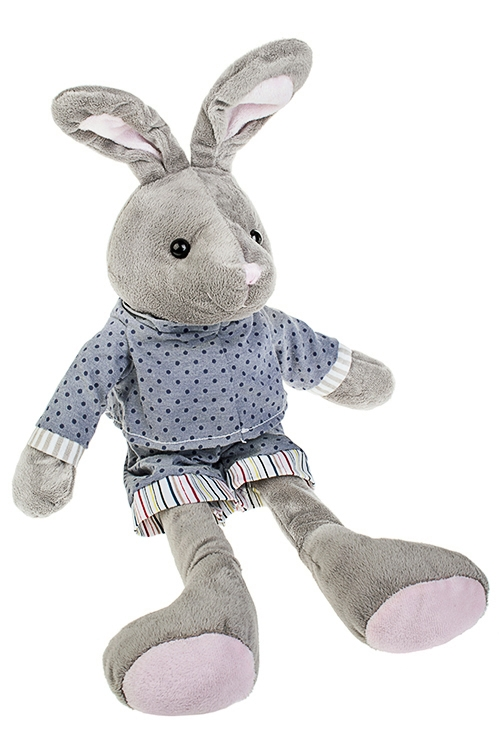Игрушка мягкая Милый зайчонокИгрушки и куклы<br>Дл=47см, текстиль, серо-синяя<br>