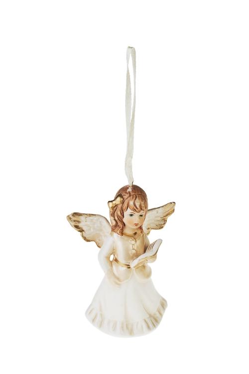Украшение декоративное Малышка-ангелочекПодарки<br>Выс=10см, фарфор, крем.-золот., подвесное (4 вида)<br>