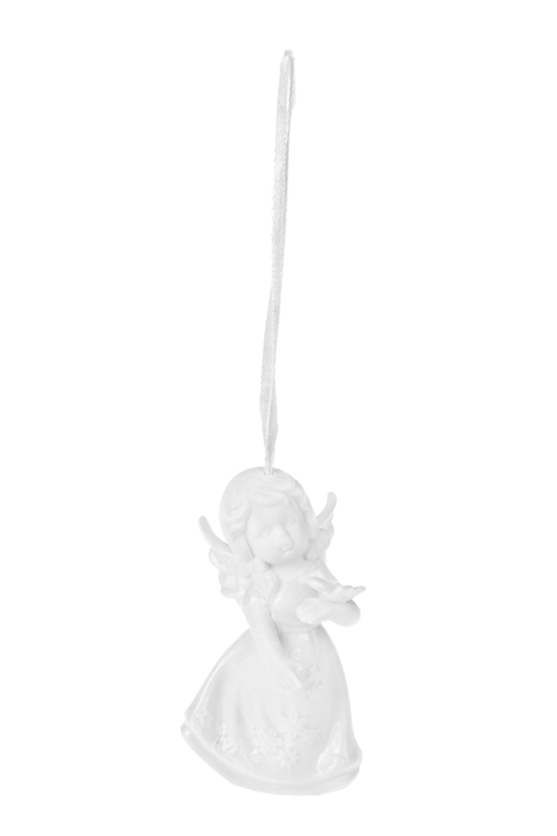 Украшение декоративное АнгелокСувениры и упаковка<br>Выс=10см, фарфор, белое, подвесное (4 вида)<br>
