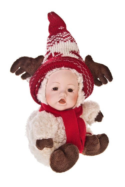 """Кукла мягконабивная """"Маленький олененок в шапочке"""" - 1"""