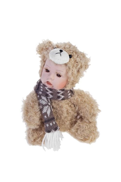 Кукла мягконабивная Маленький медвежонок с шарфиком
