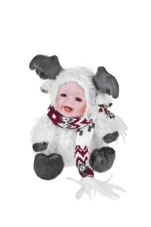 Кукла мягконабивная Маленький лосикИгрушки и куклы<br>Выс=17см, текстиль, фарфор, крем.-коричн.<br>