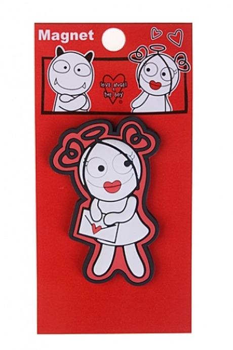 Держатель-магнит Любовное письмоСувениры и упаковка<br>ПВХ (ангелочки/дьяволята)<br>
