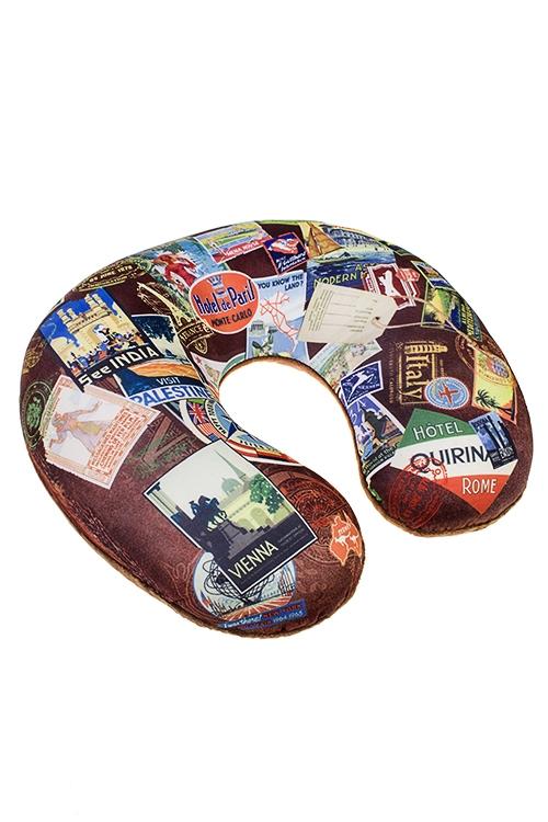 Подушка-подголовник МаркиПодарки на день рождения<br>25*30см, текстиль, разноцв.<br>