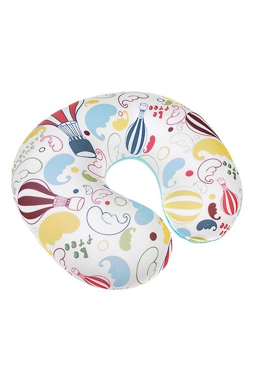 Подушка-подголовник ПриключенияПодарки ко дню рождения<br>25*30см, текстиль, разноцв.<br>