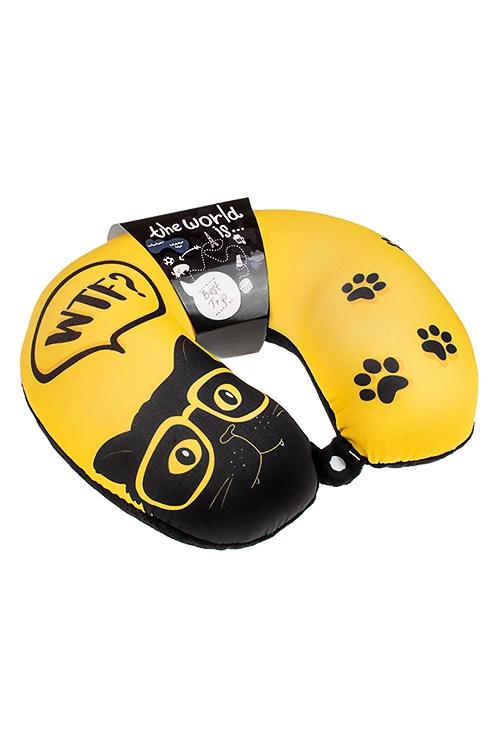 Подушка-подголовник Черный кот