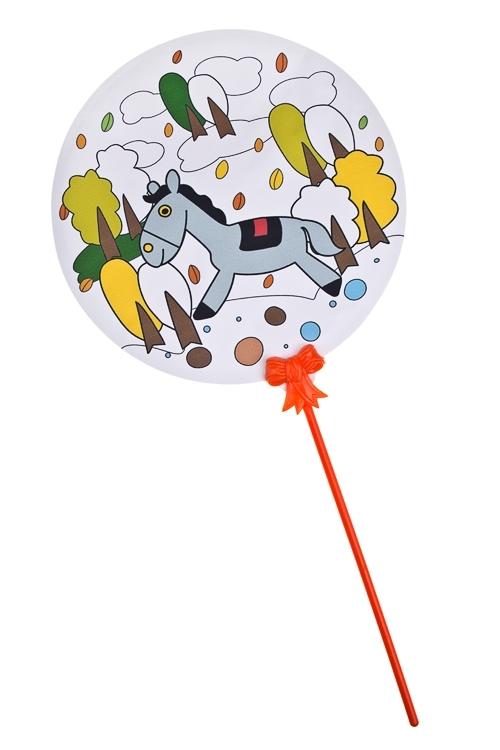 Шар-раскраска самонадувающийся ШарСувениры на День рождения<br>Д=18см, круглый, нейлон, ПЭТ (5 видов)<br>