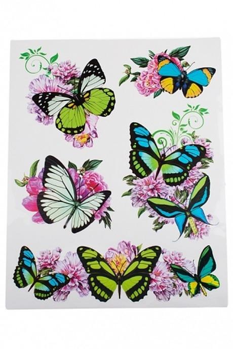 Набор аппликаций Порхающие бабочкиНаклейки и аппликации<br>30*38см, ПВХ (4 вида)<br>
