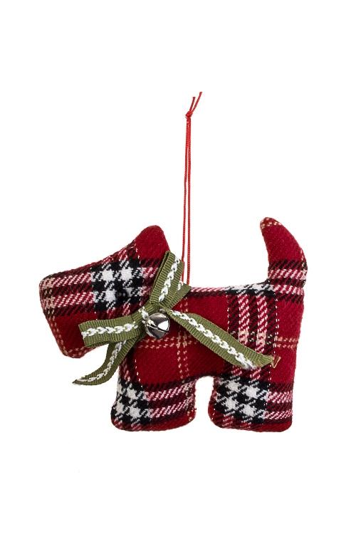 Игрушка мягконабивная Шотландский песикИгрушки и куклы<br>12*10см, текстиль, красная, подвесная<br>