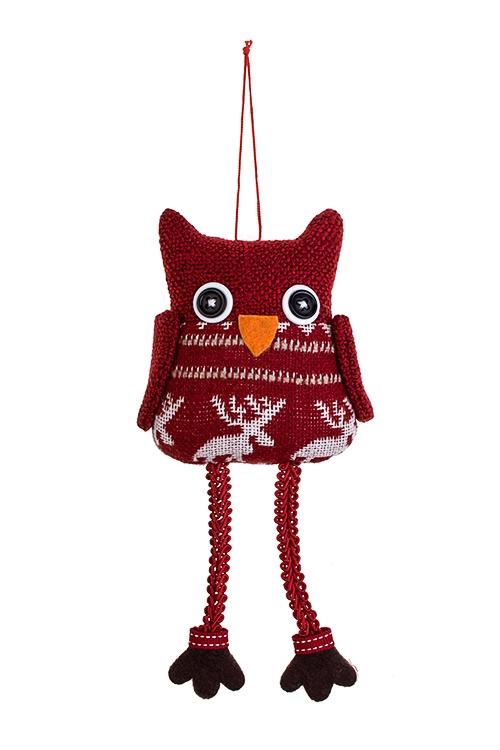 Игрушка мягконабивная СовушкаТекстильные игрушки<br>8*10см, текстиль, красная, подвесная<br>
