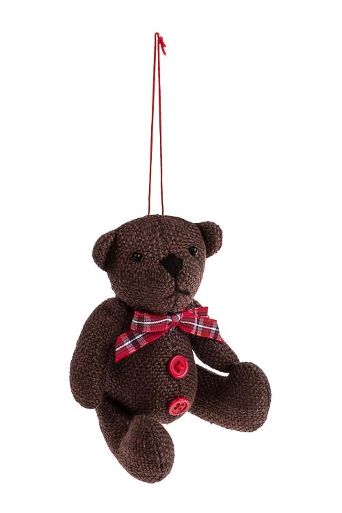 Игрушка мягконабивная Любимый мишкаИгрушки и куклы<br>Выс=11.5см, текстиль, крем.-коричн., подвесная (2 цвета)<br>
