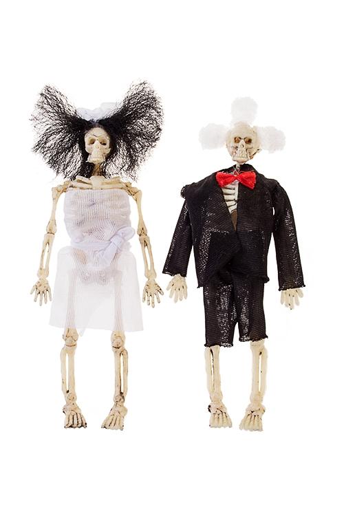 Украшение для интерьера Скелеты новобрачныхПодарки на Хэллоуин<br>Выс=15см, пластм., текстиль<br>