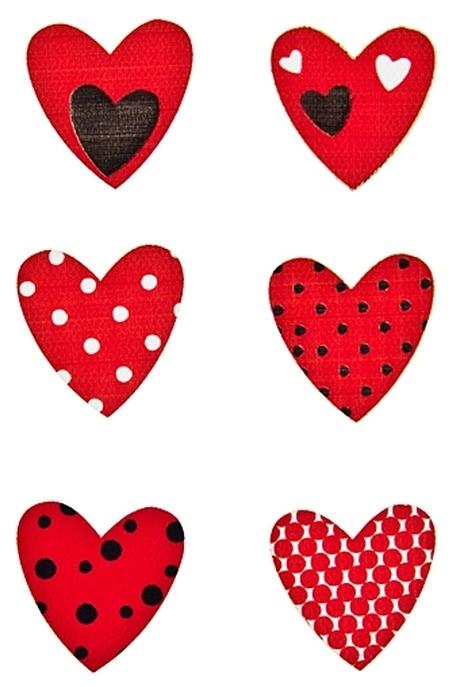 """Набор наклеек """"Красные сердечки"""""""