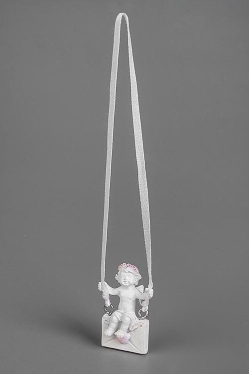 Украшение декоративное Ангел почтальонСувениры и упаковка<br>1.5*2.5*4см, полирезин, подвесное<br>