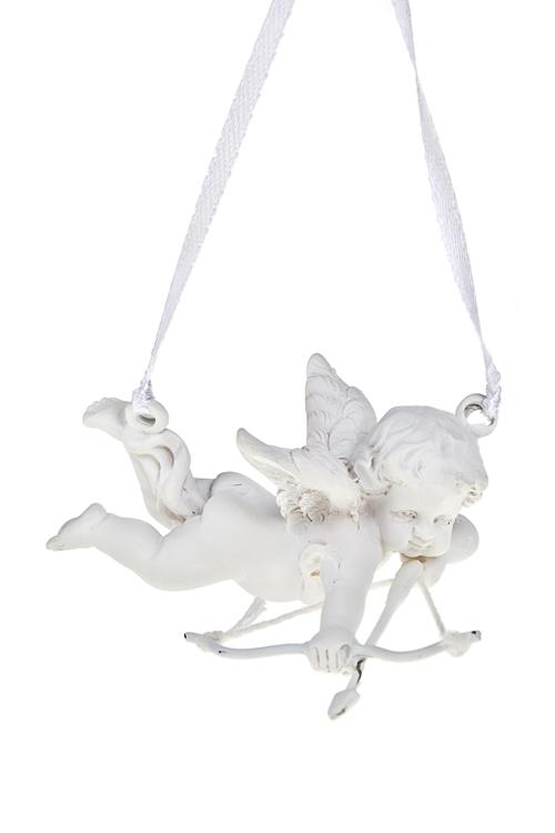 Украшение декоративное АмурчикЕлочные игрушки<br>8*5см, полирезин, белое., подвесное (2 вида)<br>
