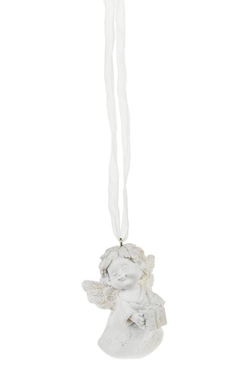 Украшение декоративное АнгелПодарки<br>Выс=7см, полирезин, крем., подвесное (4 вида)<br>