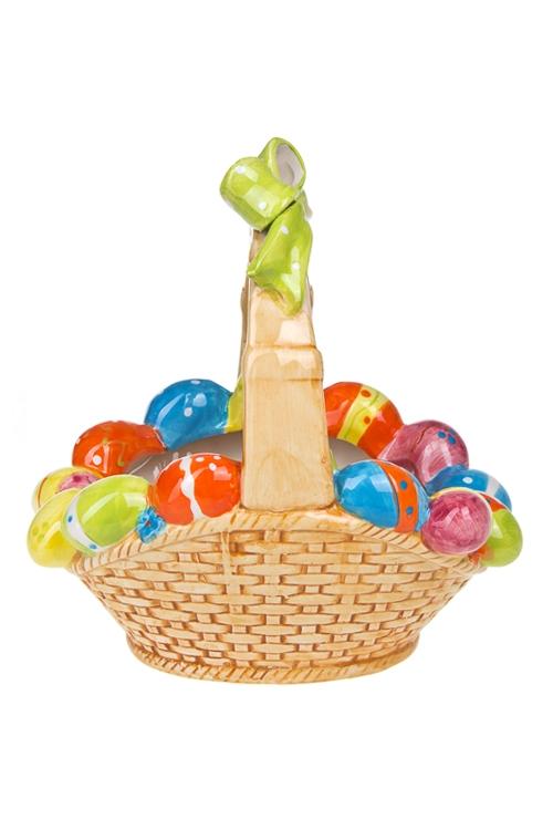 Корзинка для яиц декор. Яркая ПасхаКухонные аксессуары<br>20*14см, керам.<br>