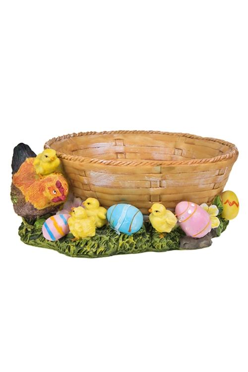 "Корзинка для яиц декор. ""Курочка с цыплятами"""