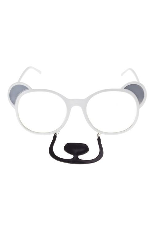 Очки маскарадные для взрослых Белый медведьМаскарадные костюмы<br>пласт.<br>