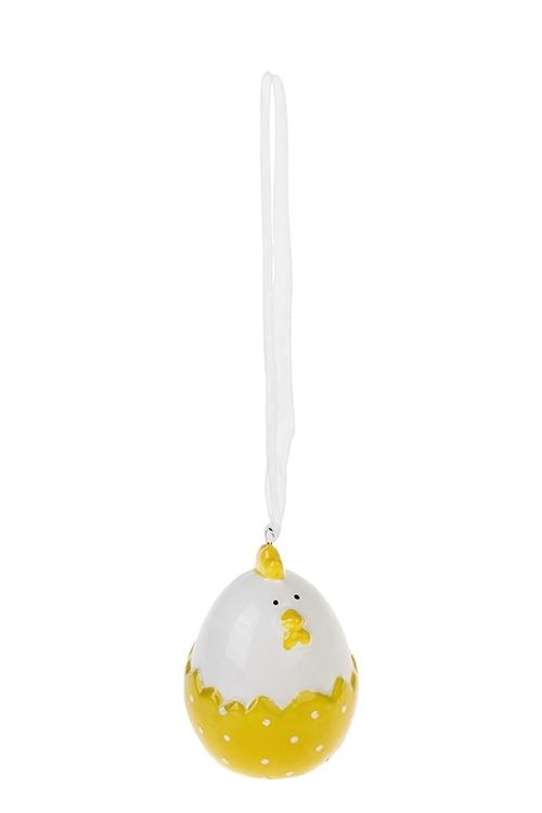 Украшение декоративное Пухлая курочкаСувениры и упаковка<br>5*6см, керам. (2 цвета)<br>