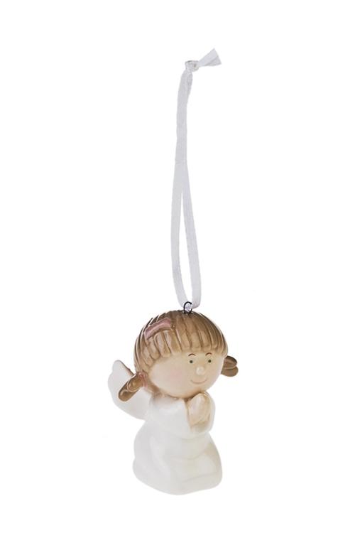 Украшение декоративное Милый ангелочекСувениры и упаковка<br>Выс=6см, керам., подвесное (2 вида)<br>